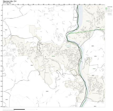 steubenville oh zip code map Amazon Com Zip Code Wall Map Of Steubenville Oh Zip Code Map Not