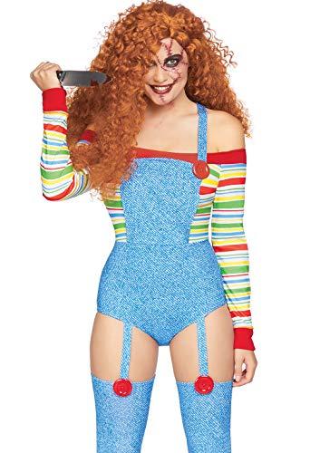 Women's Chucky Halloween Costume (Leg Avenue Women's Killer Doll Costume, Multi,)