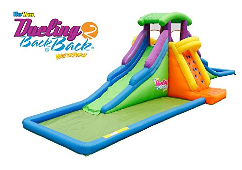 KIDWISE DUELING2 Back to Back Inflatable Water Slide