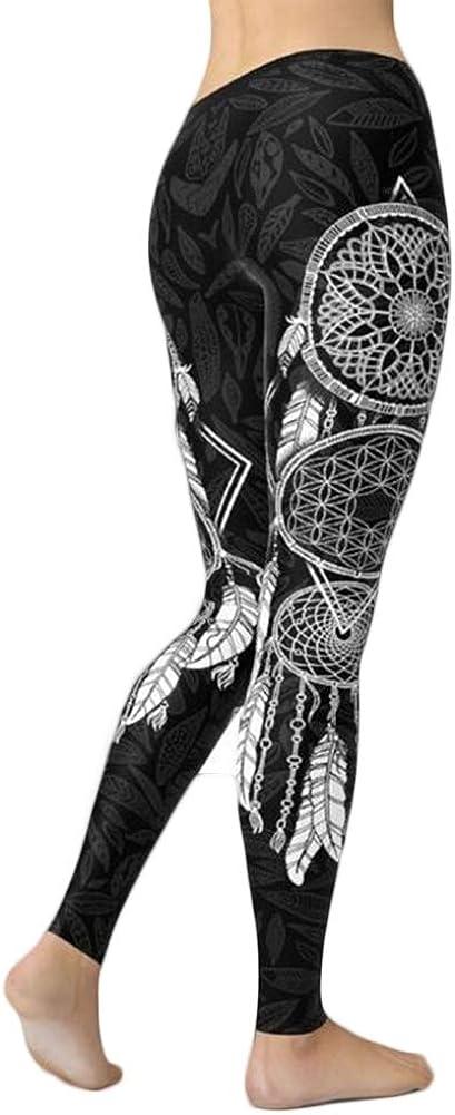 gLoaSublim Yoga Pants for Women Women Fashion Dreamcatcher Print Stretchy Fitness Leggings Slim Fit Yoga Pants