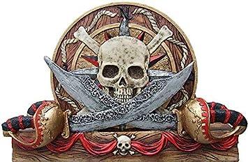 Coaster-Pirate Skull Collectible Figurine