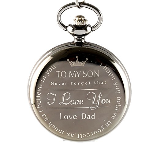 Memory From Father to Son Dad , Pocket Watch from Dad To Son , Birthday Gift for Sons