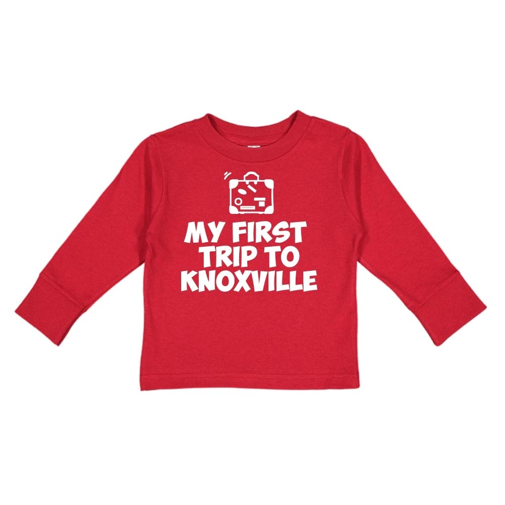 Toddler//Kids Long Sleeve T-Shirt Mashed Clothing My First Trip to Knoxville