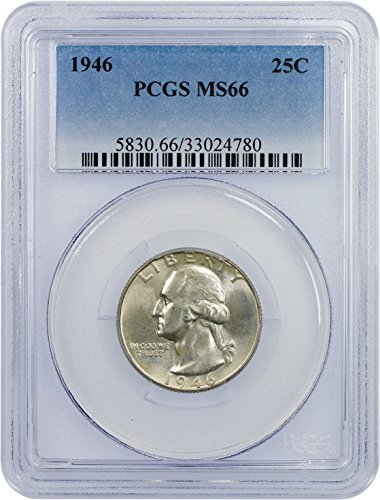 1946 P Washington Quarter Quarter MS 66 PCGS