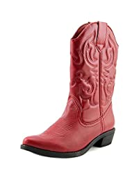 Rampage Valiant Faux Leather Western Boots