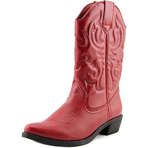 Rampage Womens VALIANT Pointed Toe Leather Western Boots, Red, Size 6