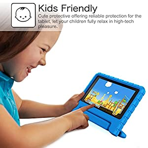 Fintie Case for all-new Fire HD 8 Tablet (7th Gen, 2017 Release) - [Kids Friendly] Shock Proof Light Weight Convertible Handle Stand Protective Cover, Compatible with Fire HD 8 (6th/ 5th Gen), Blue