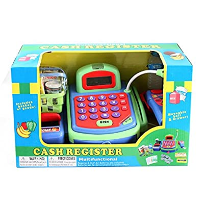 Just Like Home Cash Register - Green: Toys & Games
