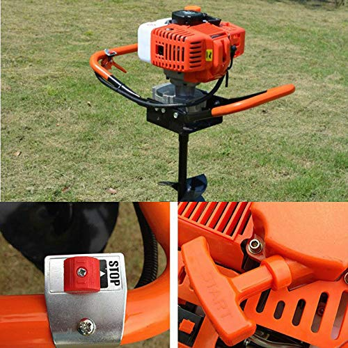 TBvechi Digger 52CC Gas Powered Post Hole Digger Drill Auger Borer Ground Fence Drill 4//6//8 Bits