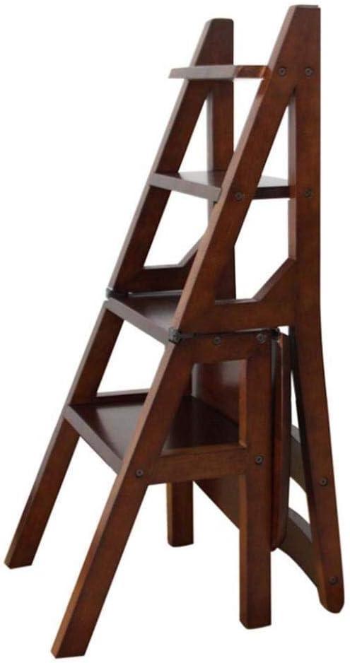 XITER Taburete de Madera Taburete Plegable Escalera de 4 peldaños Taburete Multiusos Escalera portátil/Silla de Escalera: Amazon.es: Hogar