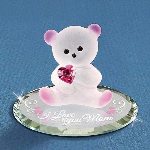 AD-L86RlymGC Black Lab with Rose /'Love You Mum/' Black Rim Glass Coaster Animal