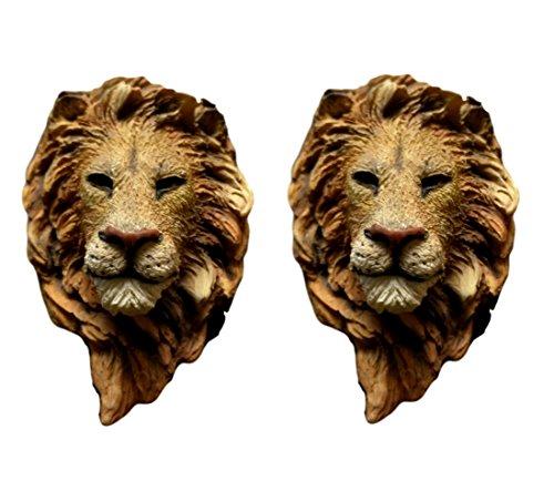 2 Piece Best Lion King Safari Animal Fridge Magnet Set Unique Cool Fun Valentines Day Gift Idea Home Married Couple Parent Kid Children Family