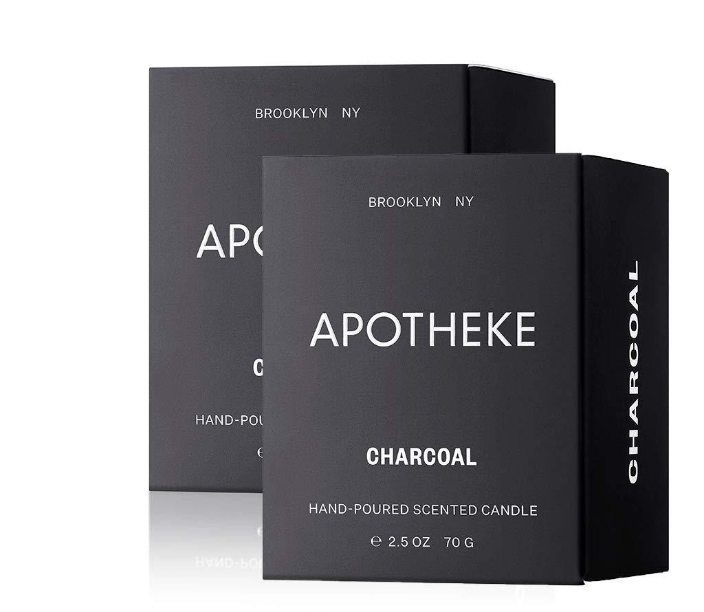 Apotheke Binchotan Charcoal Votive Candle 2.5oz, 2-Pack