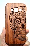 VolksRose Samsung Galaxy J5 (2015) Wood Case - Rose Wood Skull - Premium Quality Natural Wooden Case for your Smartphone and Tablet