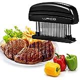 LURICO Meat Tenderiser 48 Stainless Steel Sharp Blade Tenderiser Kitchen Cooking Tool Professional Meat Tenderising Tool for Beef, Steak, Chicken, Pork and Veal (Black)