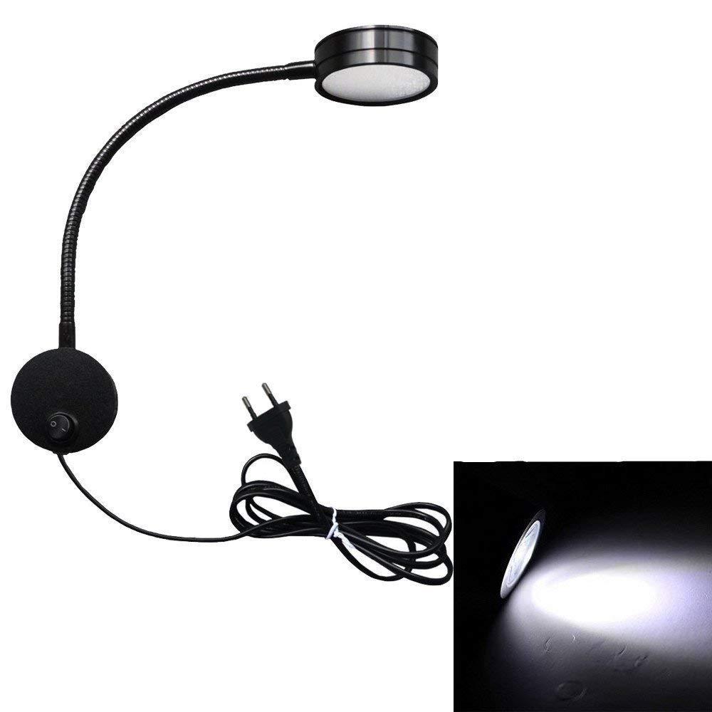 Onerbuy flessibile a collo di cigno applique da parete lampada da lettura luce mostra accento luce montaggio a parete punto lampada apparecchio con interruttore on off argento-freddo
