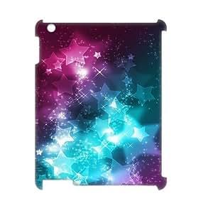 3D IPad 2,3,4 Case, Bright Shining Stars Case for IPad 2,3,4 {White}