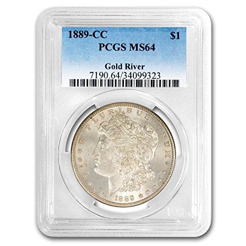 1889 CC Morgan Dollar MS-64 PCGS $1 MS-64 PCGS (1889 Morgan Dollar Silver Coin)