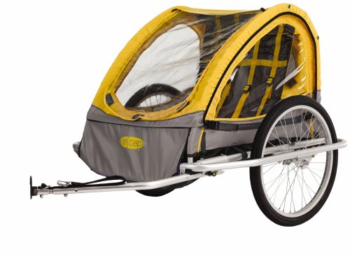 Instep Rocket Bicycle Trailer Yellow Gray Child