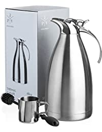 Stainless Steel Coffee Carafe - Insulated Thermal Carafe...
