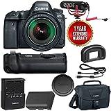 Canon EOS 6D Mark II Wi-Fi Digital SLR Camera with 24-105mm f/3.5-5.6 Lens + BG-E21 Battery Grip + Rode VMGO + Canon 100ES Bag + Warranty