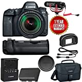 Canon EOS 6D Mark II Wi-Fi Digital SLR Camera with 24-105mm f/3.5-5.6 Lens + BG-E21 Battery Grip + Rode VMGO + Canon 100ES Bag + Warranty
