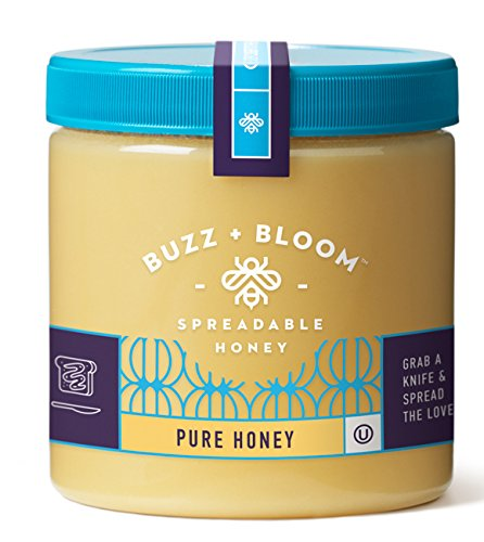 Buzz and Bloom Honey Creamy Spread, Original, 12 Ounce - Honey Spread