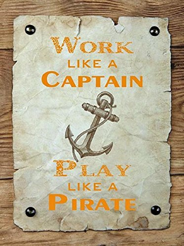 Captain and Pirate Metal Sign | 14