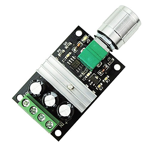 uniquegoods 6V 12V 24V 28V 3A 80W DC Motor Speed Controller PWM Adjustable Variable Speed Switch DC Motor Driver 1203BK Silver Switch (Reliable Electric Dc 2 Variable Speed Motor Controller)