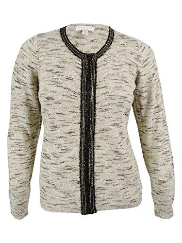 Charter Club Women's Wool Blend Sweater Jacket (0X, Vintage Cream) (Wool Vintage Cardigan)