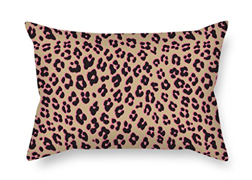 Uloveme Leopard Throw Christmas Pillow Case 20 X 26 Inches / 50 By 65 Cm Gift Or Decor For Kids Room Dining Room Office Boys Bar Bedroom - Two (Natural Shells Needlepoint)