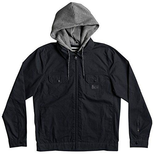 Quiksilver Men's Tionaga Bomber Insulated Jacket, Black, XL