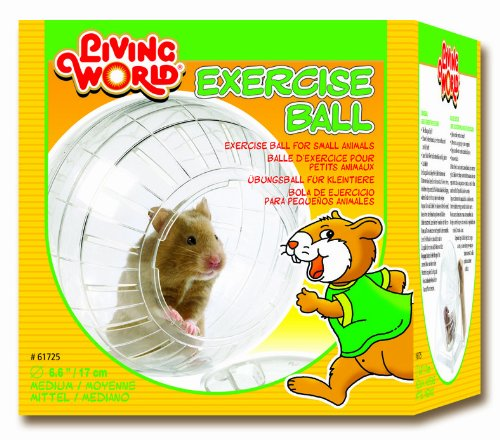 Living World Exercise Ball (Living World Plastic Hamster Exercise Ball with Stand, 6-3/5-Inch)