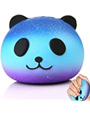 Justch Slow Rising Squishy Panda Squishy Toy Stress Relief Squeeze Toys for Kids Adults, Kawaii Squishy Galaxy