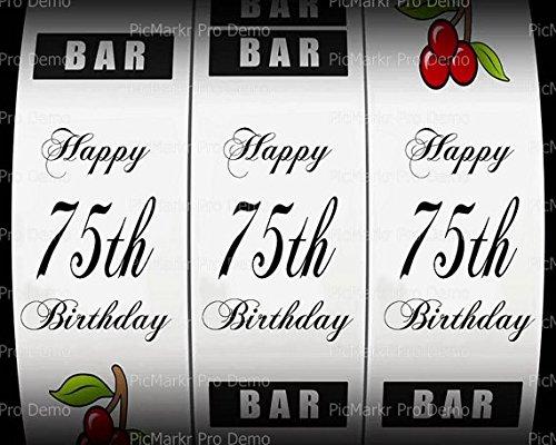 1/2 hoja – 75th Cumpleaños Casino máquina tragaperras ...