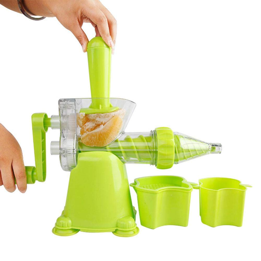 Manual Juicer, Kitchen Hand Juicer Crank Single Auger with Suction Base, Manual Wheatgrass Juicer Press for Kale, Spinach, Parsley,Fruit, Vegetable, Ice Cream Maker AOLVO