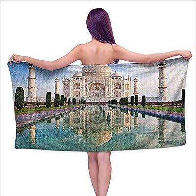 Beach Towel? Taj Mahal Sunrise Light Dia History Love Story Emperor L Scape,Home Kitchen Bathroom Spa Gym Swim Hotel Use