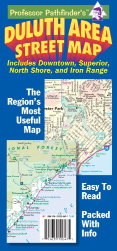 Duluth Area Street Map: Includes Downtown, Superior, North Shore, and Iron Range (Downtown, Mn)