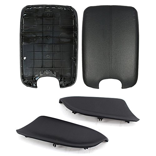 (Arotom Black Console Armrest Lid Cover + Door Panel Armrest for Honda Accord 2008-2012 with Base Plate)