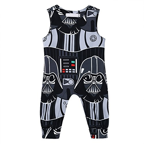 CHICTRY Newborn Baby Boys Kids Star Wars Romper One-Piece Jumpsuit Clothes Black 0-3 (Star Wars Dressing Up)