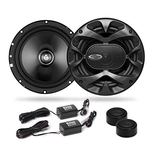 BOSS Audio Elite BCK65 6.5 Inch Component Car Speaker System - Two Speakers, Two Tweeters, Two Crossovers, 350 Watts Max ()
