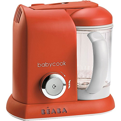 Beaba Babycook 4 in 1 Steam Cooker and Blender - Paprika with BONUS 2oz/70 ml Baby Cubes by Beaba (Image #1)