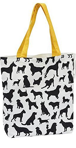 DII Dog Design Tote Bag (Silhouette) by Design Imports