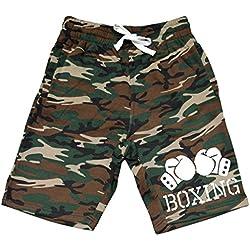 Men's Boxing Gloves V434 Camo Fleece Jogger Sweatpant Gym Shorts Large Black
