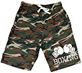 Men's Boxing Gloves V434 Camo Fleece Jogger Sweatpant Gym Shorts X-Large Black