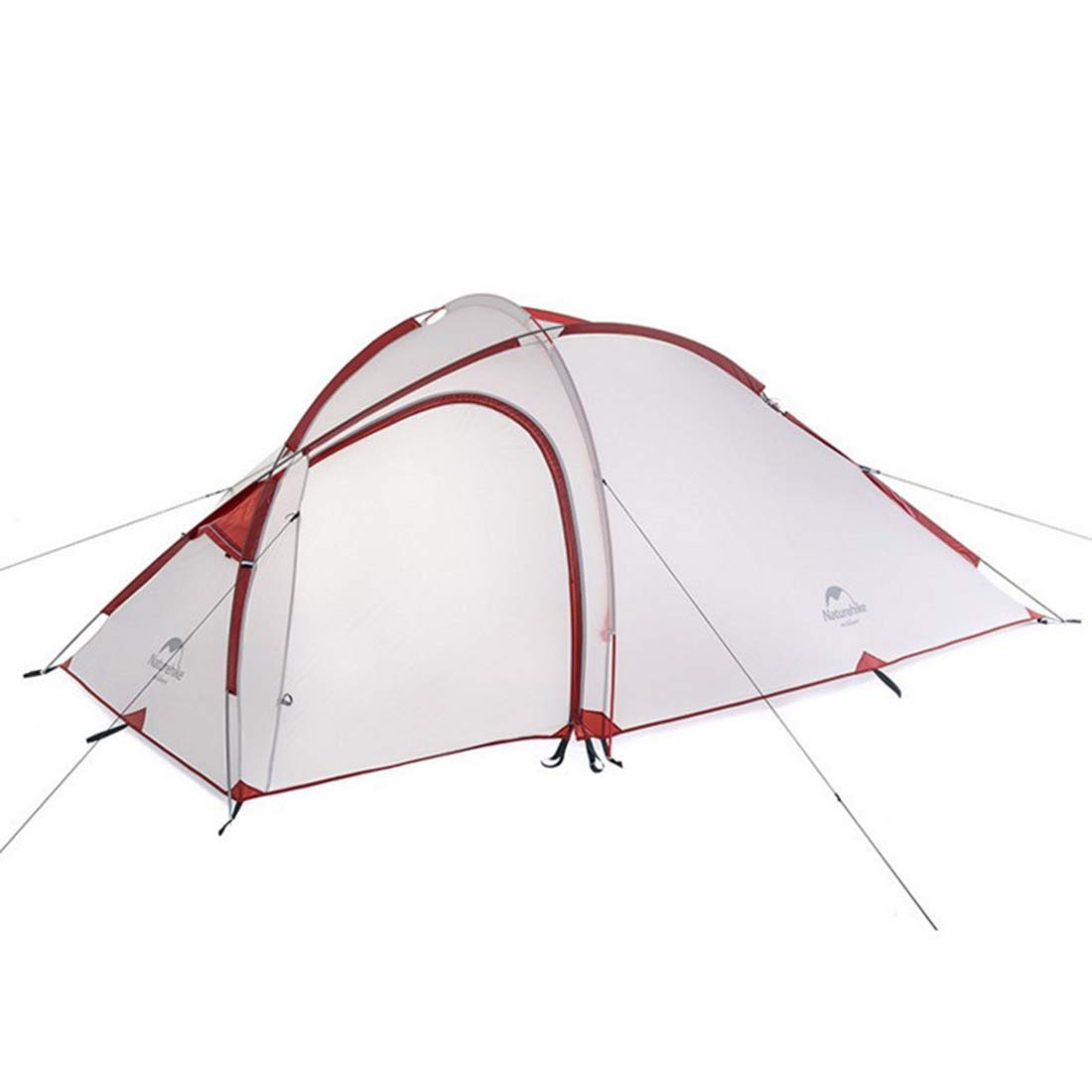 Sakuldes Campingzelt 4 Season EIN-Zimmer-Mehrgeschosszelt mit Einem Schlafzimmer muss für Outdoor-Sportarten mit Orangefarbenem Patchwork montiert Werden (Farbe   grau)