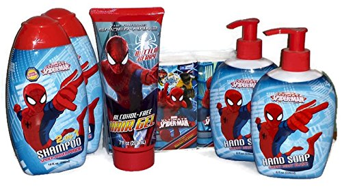 Amazon.com : Spiderman Bath Set. Soap, Shampoo 2 In 1, Hair