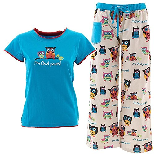 Lazy One I'm Owl Yours Pajama Set for Juniors L (Owl Yours Pajamas)