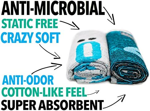 Swol Fitness Fast Dry Gym Towel Antimicrobial with Naturally Anti-Odor...