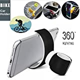 Mobile Phone Holder, Elevin(TM) 360 Degrees Universal Air Vent Mount Bicycle Car Cell Phone Holder Stands for iPhone 6 Plus/7/8/X 3.5-6.0inch Phone (Black)